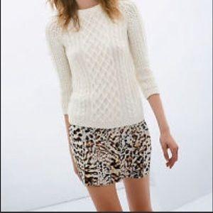 🆕 Zara Leopard Mini Skirt Medium MSRP $39.90